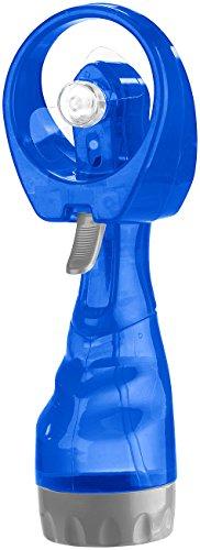 Pearl Ventilador de Mano: Ventilador de Mano con rociador de Agua, Depósito de Agua de 300 ml, De Pilas (Ventilador de Mano con Función de pulverización)