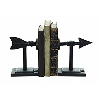 Creative Co-Op Metal Arrow Bookend Set