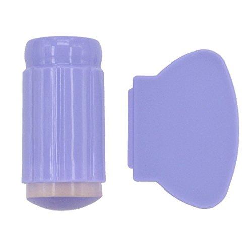 TININNA Nail Art Stamping Stamper Grattoir DIY Emboutissage Image Plaque Manucure Impression Outil Bricolage 2.8cm Violet