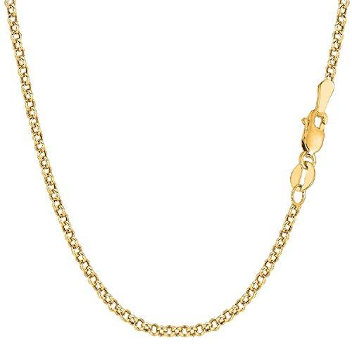 Catenina, in oro 750 giallo (18 carati), maglia rolò, unisex, larghezza 2,70 mm, personalizzabile, Oro giallo, colore: oro giallo, cod. ROLO18