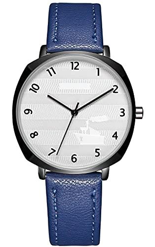 KDM Herren Uhr Outdoor Sport Militär Uhr Armbanduhr Große Zifferblatt 50M wasserdichte Uhren Herren mit Lederband