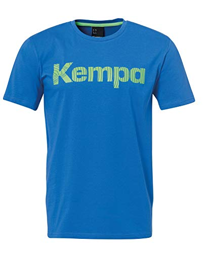 Kempa Kinder Graphic T-Shirt, azurblau, 152