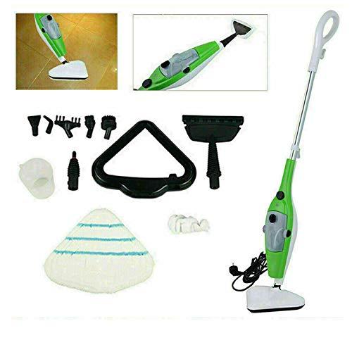 Limpiadores de vapor para pisos y alfombras, limpiadores de ventanas, máquinas de limpieza de vapor de mano, 1300 W (10 accesorios incluidos)