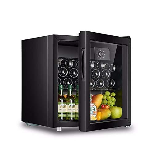 Bebida de mini vino de 50 litros Frigorífico refrigerador, termostato incorporado, luz LED, cerradura de seguridad, clase de energía A +, eficiente de energía silenciosa y excelente para cocinas equip
