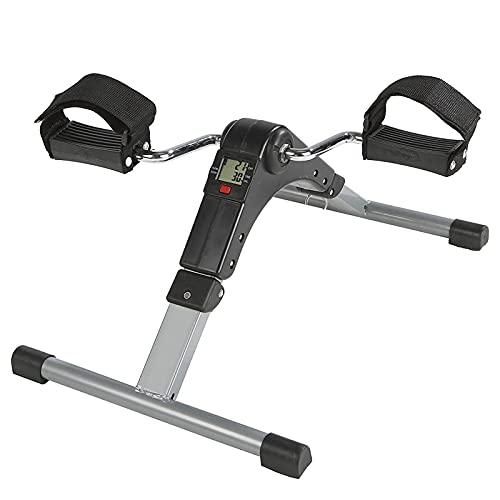 Lpydhfc Monitor LCD Mini Bicicletas, Brazo Y Pierna Trainer, Resistencia Ajustable Bicicleta Estática, Home Trainer Ahorro De Espacio Motion Trainer, para Hombres Y Mujeres