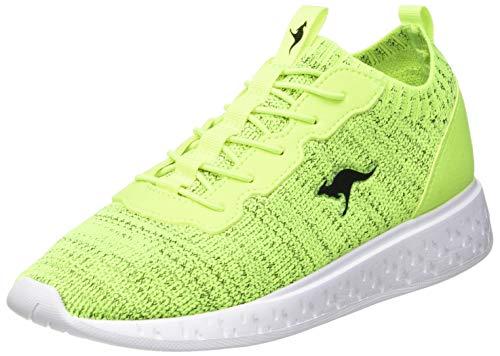 KangaROOS Unisex K-Act Stash Sneaker, Neon Yellow/Jet Black 7013, 37 EU