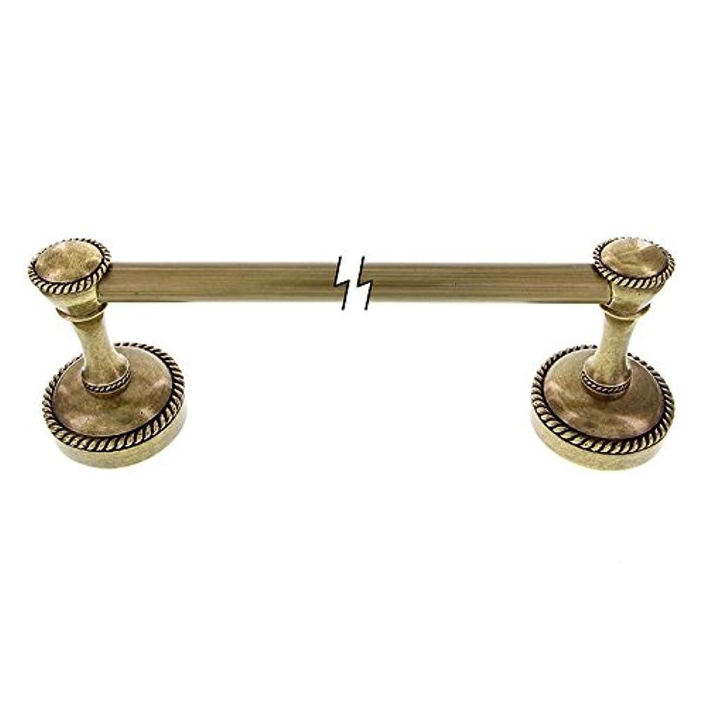 物語結晶オールVicenza Designs tb8004?Equestreタオルバー、18インチ、アンティーク真鍮