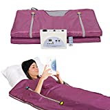 SurmountWay Sauna Blanket, Professional Body Shaper Sauna Blanket Detox Therapy Machine (Zipper Type,Purple)