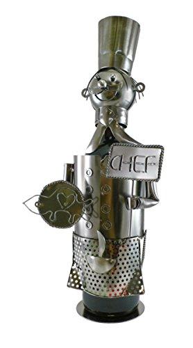 Michel Toys Wein-Flaschenhalter Chefkoch aus Metall
