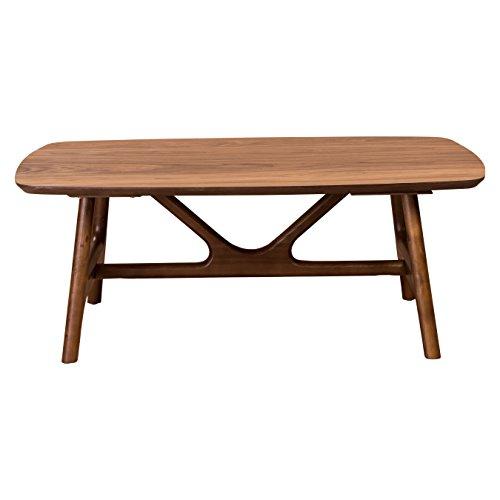 "Euro Style Travis 48"" Coffee Table, American Walnut"