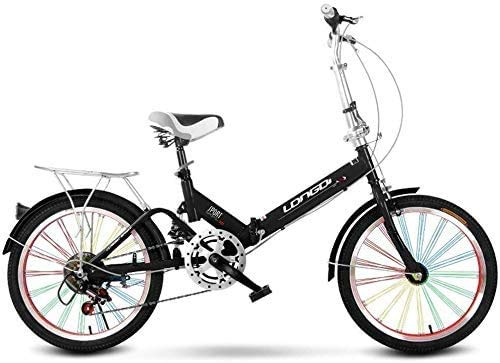 Pkfinrd Opvouwbare fiets 20 Inch Volwassen Single Speed ? ?Licht Draagbare Mannen En Vrouwen Shock Absorber Fiets Kind Fiets Kind Vouwen Fiets
