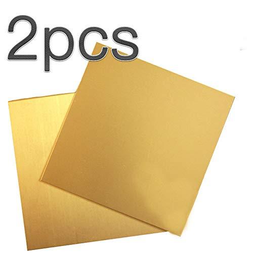 GYZD Metall Messingblech Oberfläche blank im Zuschnitt bis Größe Kupferbleche Kupferplatte Kupferfolie Im Zuschnitt 200mm X 200mm X 2.5mm 1pcs,3mm x 200mm x 200mm
