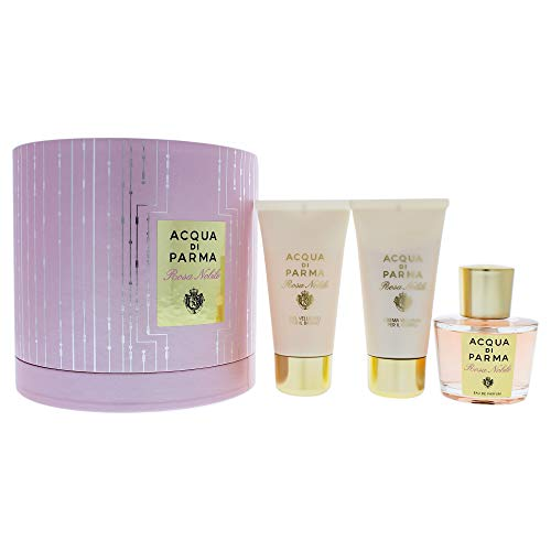 Acqua Di Parma Rosa Nobile 3 Piece Gift Set Eau De Parfum Spray, Shower Gel & Body Cream for Women