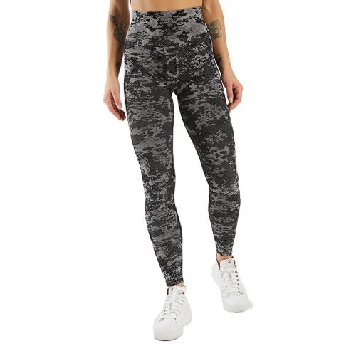 QTJY Pantalones de Yoga sin Costuras de Camuflaje Push Leggings Altos Pantalones de Yoga de Fitness para Mujer Pantalones de Entrenamiento de Celulitis de Cintura Alta B S