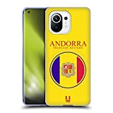 Head Case Designs Bandera De Andorra Remiendos de La Bandera Carcasa de Gel de Silicona Compatible con Xiaomi Mi 11