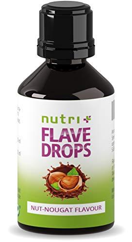 Flavour Drops Nuss-Nougat 30ml - Kalorienfreie Aroma-Tropfen - Geschmackstropfen zum Süßen und Backen - Flavor Drop Vegan - Nussaroma ohne Zucker - Hergestellt in Deutschland