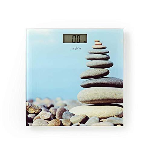 Nedis Báscula personal Báscula personal | Digital | Piedras | Cristal Templado | Capacidad máxima de pesaje: 150 kg Diseño de impresión