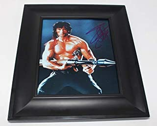 First Blood John Rambo' Sylvester Stallone Signed Autographed 8x10 Glossy Photo Gallery Framed Loa