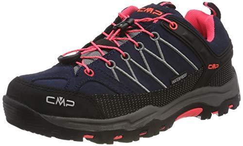 Cmp CMP Unisex-Kinder Kids Rigel Low Shoes Wp Trekking-& Wanderhalbschuhe, Grau (Antracite-Red Fluo 95bd), 34 EU