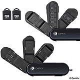 CAMKIX Ensemble de 2 étuis de Stockage pour Carte mémoire - 2X Lecteur Micro SD (USB) - Type de Couteau Suisse avec 3 Lames de Stockage - Convient aux Cartes 6X SD et 10x Micro SD