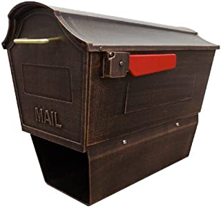 Town Square Curbside Mailbox w Paper Tube (Copper)