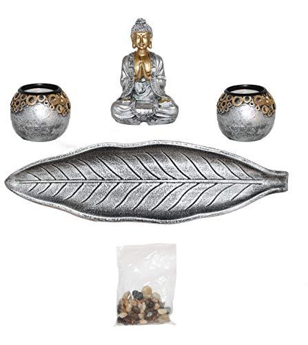 Sper Buddha Teelichthalter Dekoration Geschenk Tischdeko Wohnzimmer japanische Dekoration. Kerzenhalter Deko-Statue
