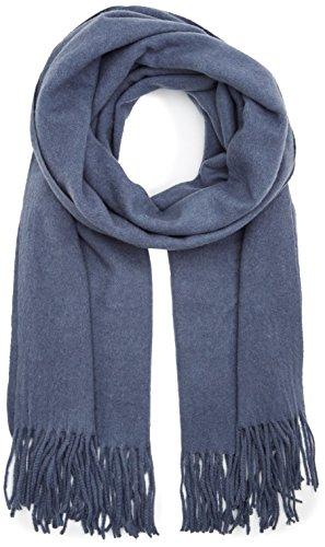 PIECES Damen PCJIRA Wool Scarf NOOS Schal, Blau (Flint Stone), One Size