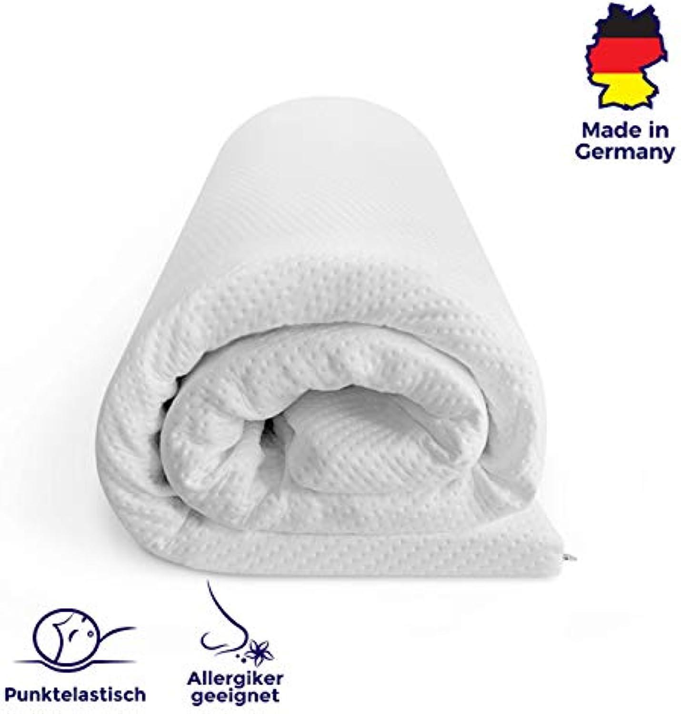 Mister Sandman atmungsaktive Matratzenauflage aus Kaltschaum für erholsamen Schlaf- weicher Matratzentopper und Matratzenschoner für alle Matratzentypen, 180 x 200 cm