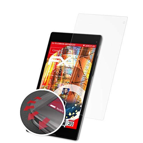 atFolix Schutzfolie kompatibel mit Medion LIFETAB P8312 Folie, entspiegelnde & Flexible FX Bildschirmschutzfolie (2X)