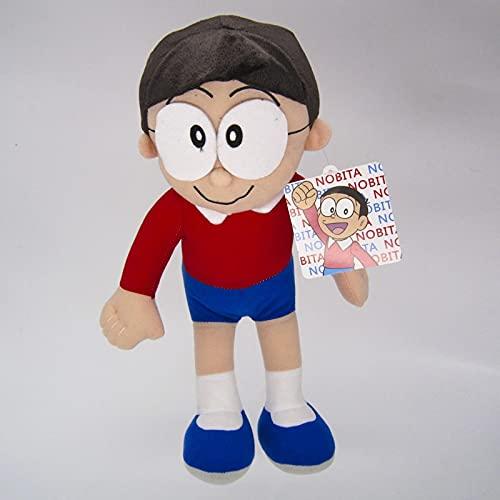 XKMY Doraemon - Muñeca de peluche Nobita Nobi Doraemon Shizuka Suneo (color: rojo)
