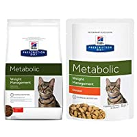 Hill's Prescription Diet Feline Metabolic Weight Management - Chicken has been specially developed for cats that are prone to weight gain. This diet cat food is made with a reduced-energy recipe. Hill's Prescription Diet Feline Metabolic Weight Manag...