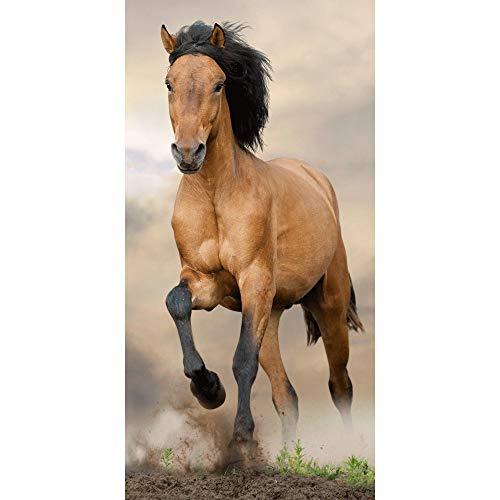 Animal Prints - Toalla de baño de playa con diseño de caballo marrón