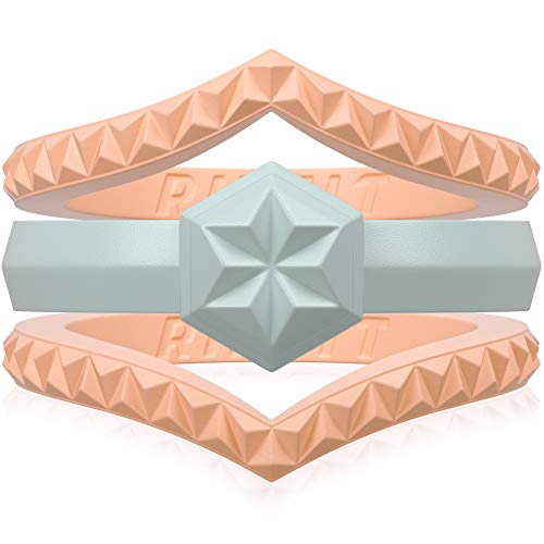 Rinfit Designed Silicone Wedding Ring with Stone-Like Band