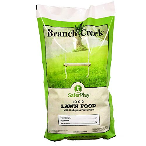 Branch Creek Non-Toxic Crabgrass and Weed Prevention Lawn Food | Covers Up to 10,000 Sq. Ft.