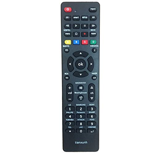Control Remoto Universal de TV para Samsung, Vizio, LG, Sony, Sharp, RCA, Panasonic, Smart TV, HAIER, Toshiba, Philips, TCL, JVC, Hitachi, Hisense - con 3D, Netflix, Botones APPS