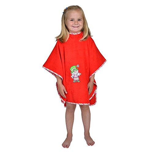 Mauz by wörner bébé clown rouge bavoirs, serviettes de bain et gant poncho peignoir, rouge, Bade-Poncho 120x75cm