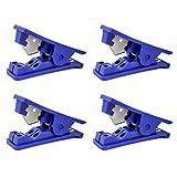 QWORK -Cortador de tubos de PVC para tubos de plástico de nailon para tubos de polietileno de hasta 12.7mm de diámetro exterior, azul