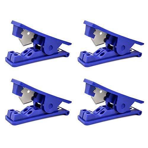 QWORK -Cortador de tubos de PVC para tubos de plástico de nailon para tubos de polietileno de hasta 12.7mm de diámetro exterior