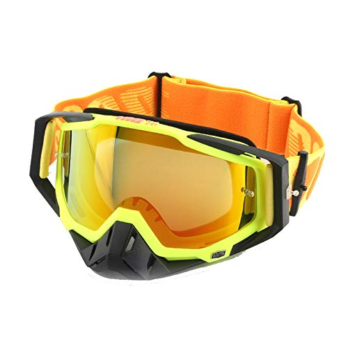 ZJP Occhiali Moto Occhiali di Protezione Che Corre Occhiali Cavaliere Cross Country Occhiali Equitazione Goggle Pacchetto Singolo (Color : Style1, Size : 195x110MM)