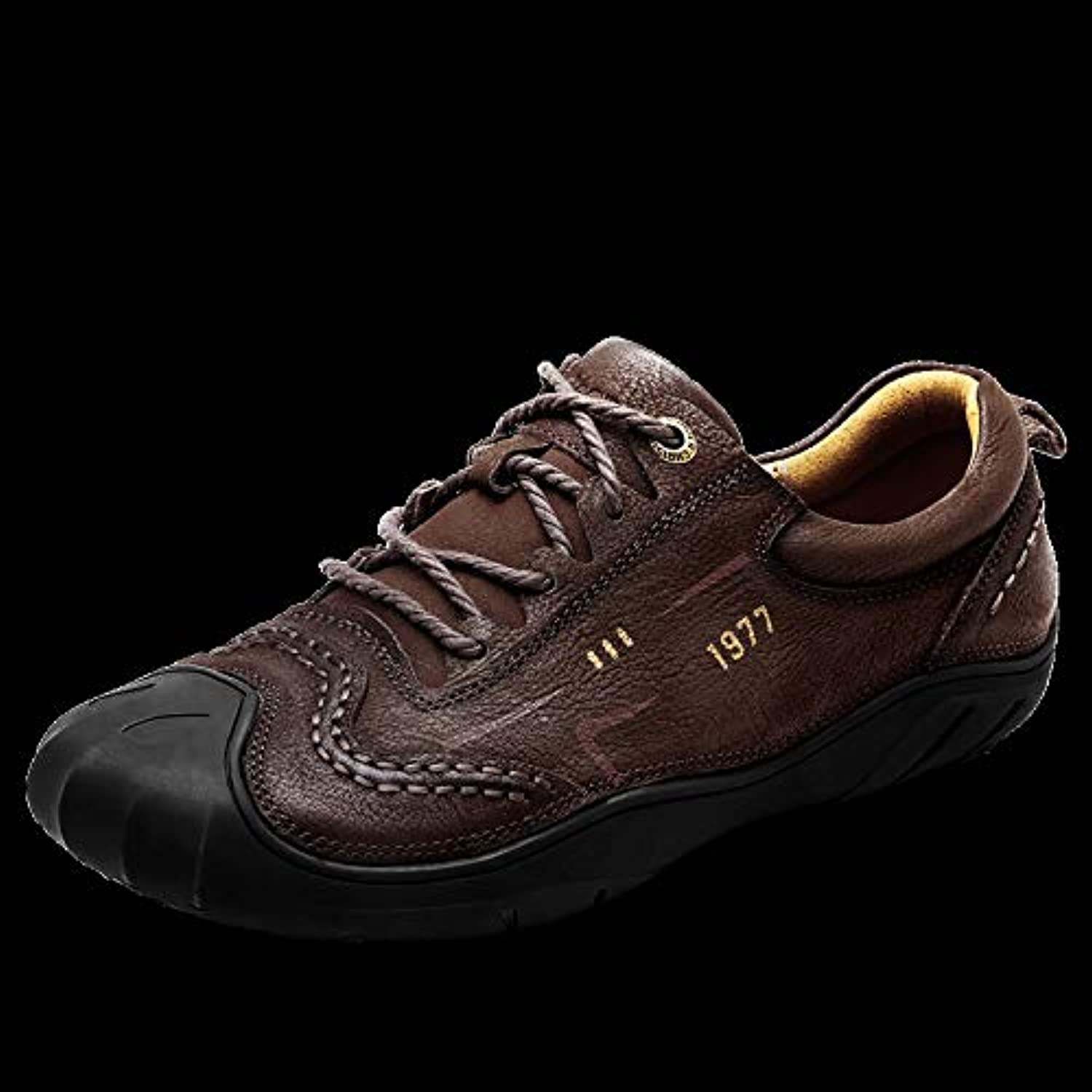 LOVDRAM Men'S shoes Men'S shoes Autumn And Winter Leather Breathable Men'S Outdoor Casual shoes Men'S Leather Handmade shoes