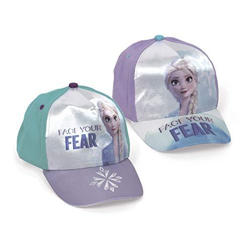 Familie24 Frozen Die Eiskönigin Auswahl Baseball Cap Kappe Schirmmütze Kinderbaseballcap Anna ELSA Olaf Sven (Lila)