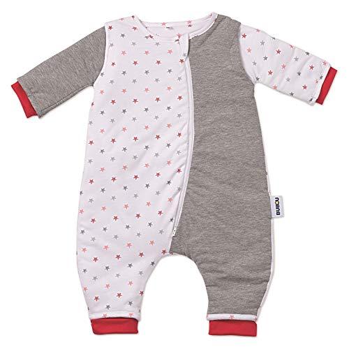 Gesslein 752167 Bubou Walker Design 167: Temperaturregulierender Ganzjahreschlafsack/Schlafsack für Babys/Kinder mit Beinen, Größe 90, grau