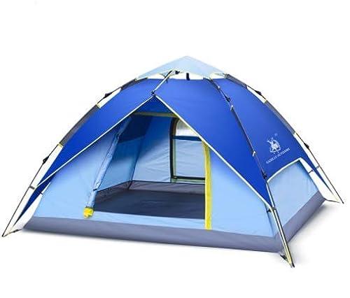 Amio Fournitures de Jardin Tente de Camping Double épaisseur 3 4 Personnes