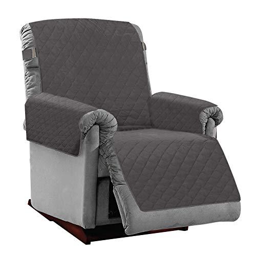 Mighty Monkey - Funda reversible premium para muebles reclinables, protector de muebles, correa elástica de 5 cm, lavable a máquina, multiuso (para niños, perros, gatos,...