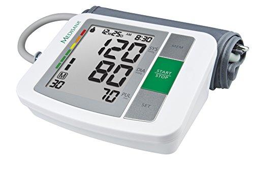 Medisana BU 510 Tensiómetro de brazo sin cable, pantalla de arritmia, escala de colores del semáforo de la OMS, para la medición precisa de la tensión arterial y del pulso con función de memoria