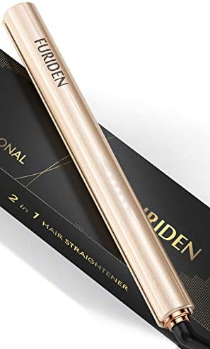 FURIDEN Hair Straightener Hair Straightener and Curler 2 in 1 Professional Flat Iron for Black product image