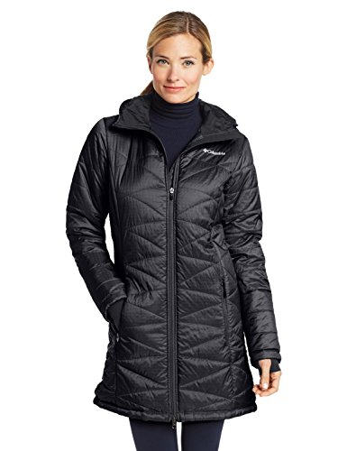 Columbia Womens Mighty Lite Hooded Jacket, Tradewinds Grey, X-Small