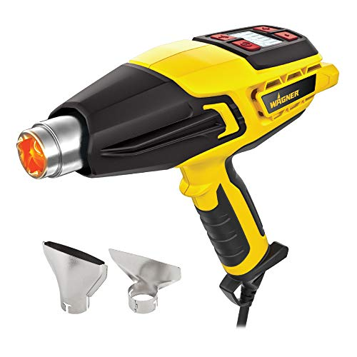 Wagner 0503063 FURNO 500 Variable-Temp Heat Gun, 12 Temperature Settings Ranging 150ᵒF-1200ᵒF soften paint, caulking, adhesive, putty for removal, shrink wrap, bend plastic pipes