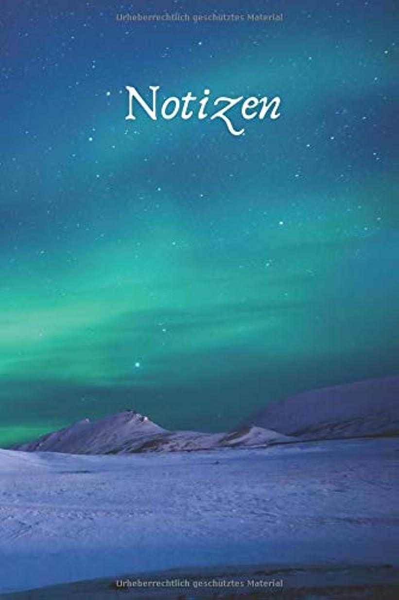 条件付き維持する自発的Polarlichter Nordlichter in Island: blanko Tagebuch / Notizbuch ohne Zeilen mit 120 Seiten