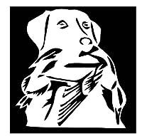 車 ステッカー犬 13.6Cm * 14.6Cmダックハントラブラドール犬の車のステッカービニールデカール車-スタイリングトラックアクセサリーシルバー